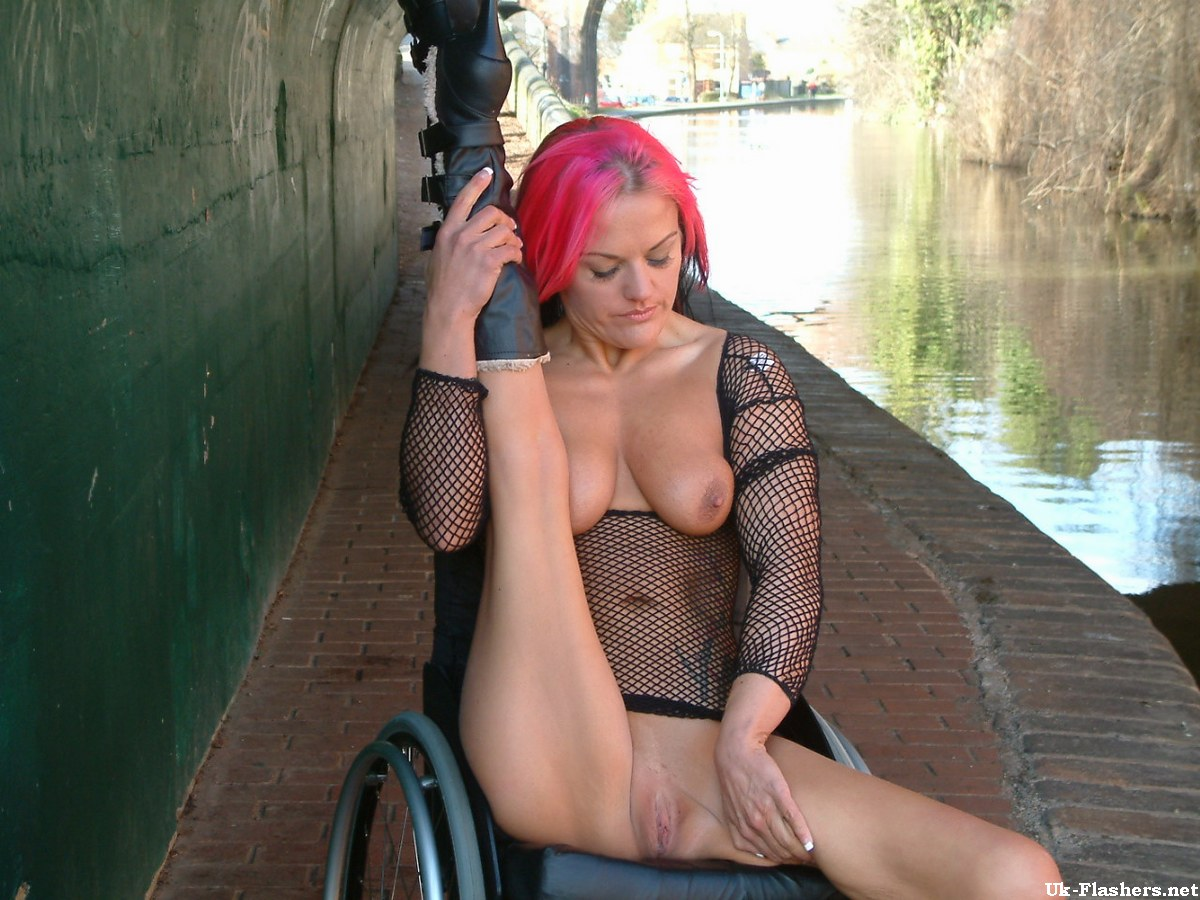 Nude wheelchair public