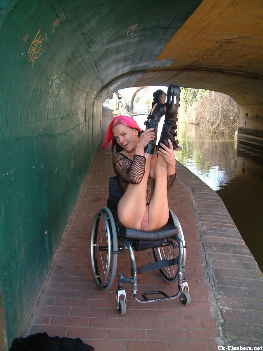 public nude Wheelchair