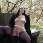 Fat exhibitionist babes outdoors