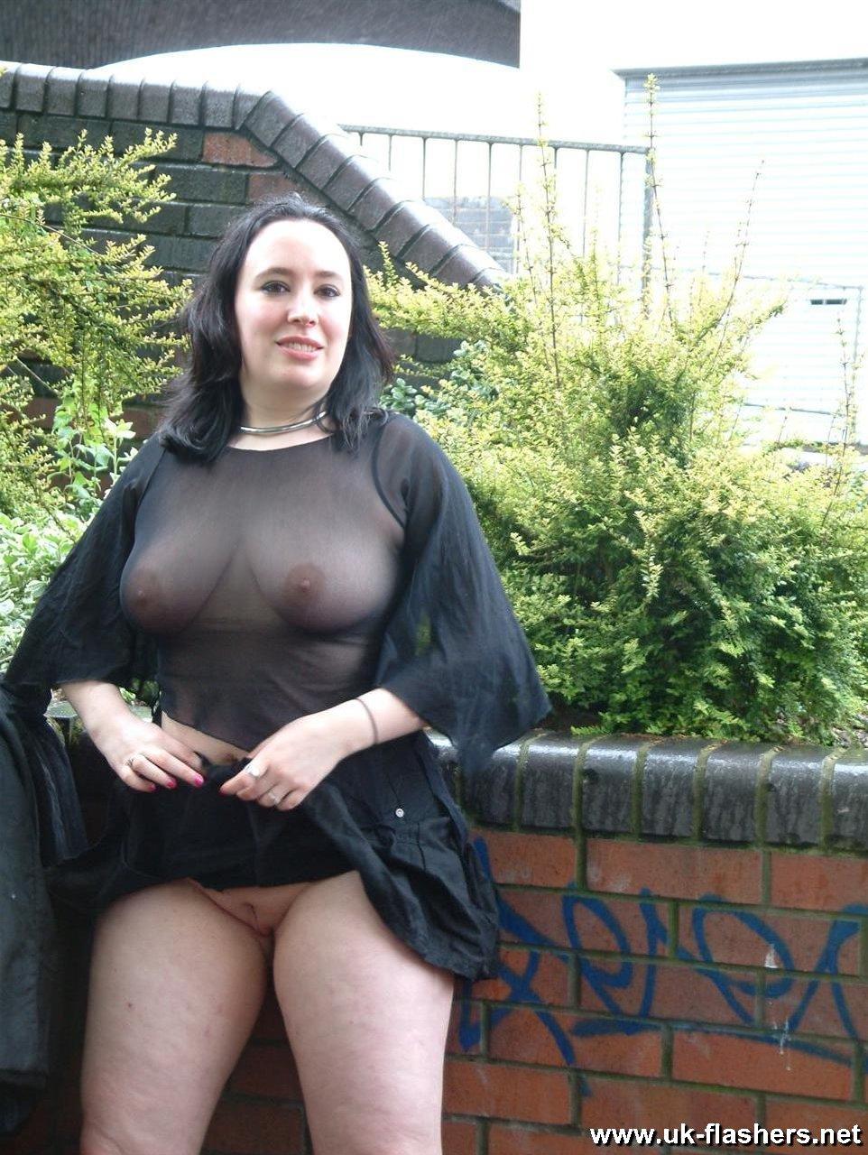 Nude fat girl in public